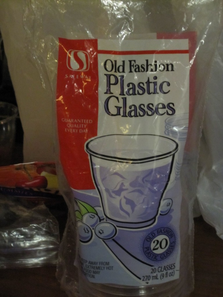 Old Fashion Plastic Glasses